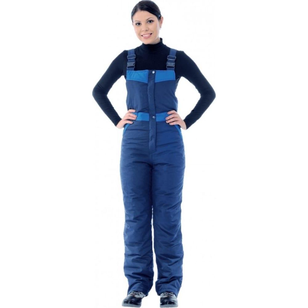 Женский утепленный полукомбинезон гк спецобъединение зимушка темно-синий/василёк, размер 96-100, рост 158-164 ком 661/ 96/158Рабочие комбинезоны и брюки<br>Вес: 1.3 кг;<br>Тип: женский комбинезон ;<br>Цвет: темно-синий/васильковый ;<br>Max температура: -18 °C;<br>Ткань: сису ;<br>Состав ткани: 23% хлопок, 77% полиэфир ;<br>Плотность ткани: 140 г/кв.м;<br>Размер: 96-100 ;<br>Рост: 158-164 см;<br>Пропитка: водоотталкивающая ;<br>Световозвращающая полоса: нет ;<br>Капюшон: нет ;<br>Тип застежки: молния ;<br>ГОСТ\ТУ: ГОСТ Р 12.4.236-2011 ;<br>Единиц в упаковке: 1 шт.;<br>Защитные свойства: от пониженных температур ;<br>Утеплитель: климафорт ;<br>Международный размер: M (48-50) ;