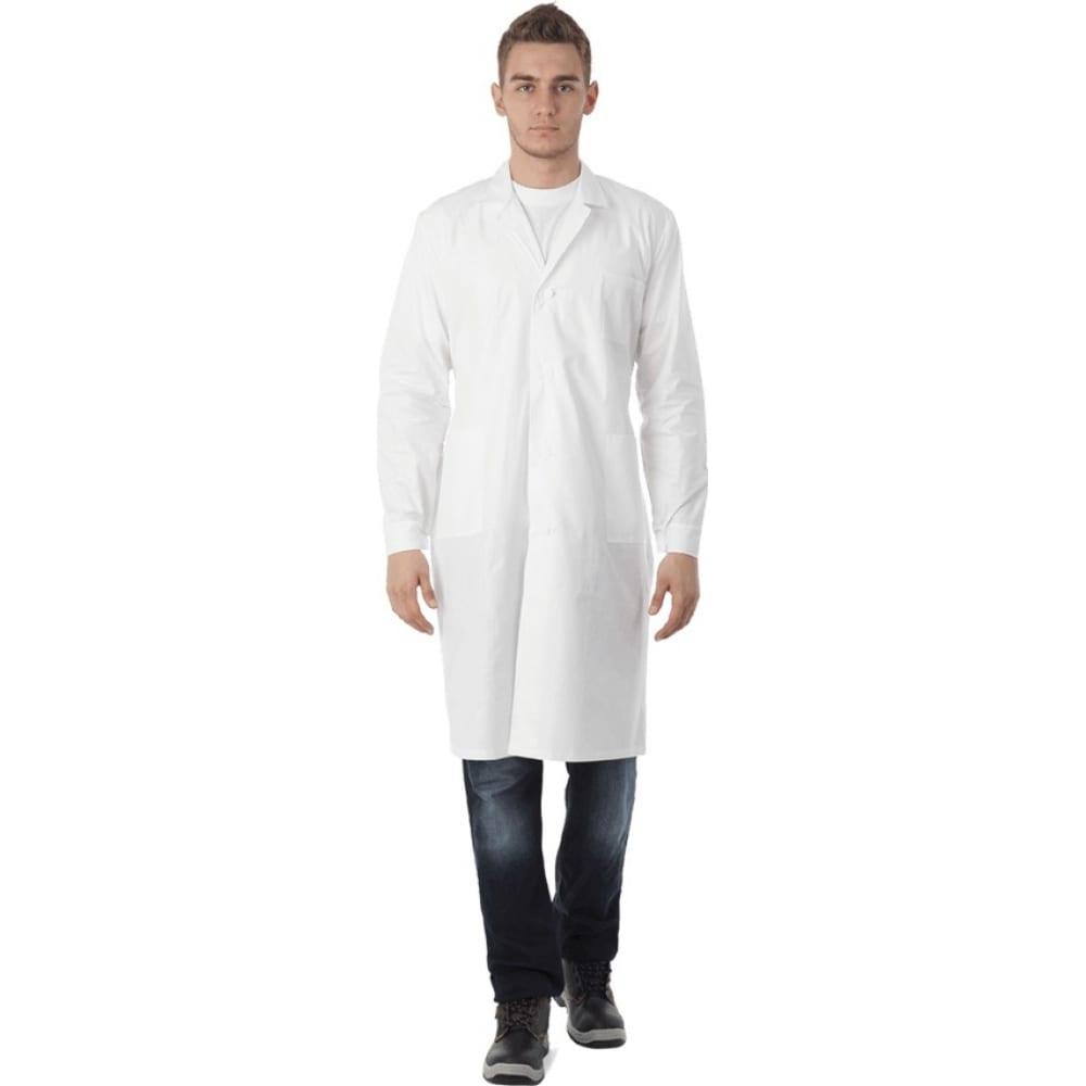 Купить Рабочий халат гк спецобъединение бязь белый, размер 104-108, рост 170-176 хал 003/104/170