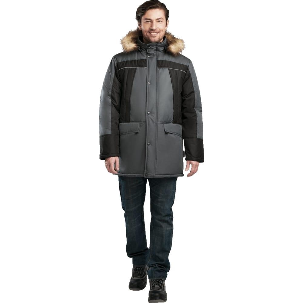 Утеплённая куртка гк спецобъединение скандинавия люкс серая/чёрная, р.104-108, рост 182-188 кур 316/104/182Утепленные куртки<br>Ткань: Таслан ;<br>Состав ткани: 100% полиэфир ;<br>Утеплитель: климафорт ;<br>Плотность ткани: 110 г/кв.м;<br>Max температура: -18 °C;<br>Размер: 52-54 ;<br>Рост: 182-188 ;<br>Пропитка: водоотталкивающая ;<br>Капюшон: есть ;<br>Тип застежки: молния ;<br>ГОСТ\ТУ: ГОСТ Р 12.4.236-2011 ;<br>Вес: 1.2 кг;<br>Цвет: серый/черный ;<br>Международный размер: XL (52-54) ;<br>Светоотражающие элементы: есть ;<br>Единиц в упаковке: 1 шт.;<br>Защитные свойства: от пониженных температур воздуха ;