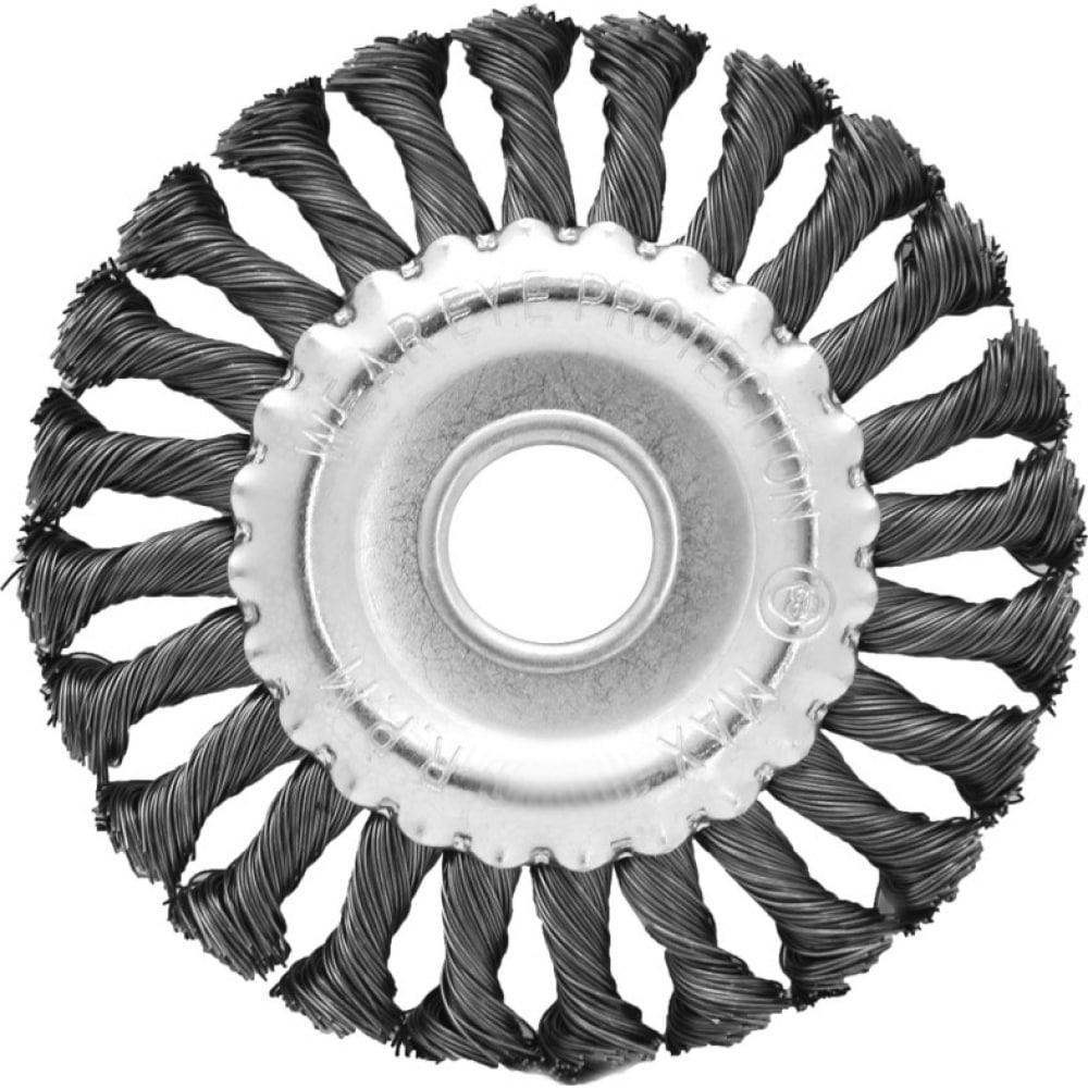 Щетка плоская, крученая металлическая проволока (100