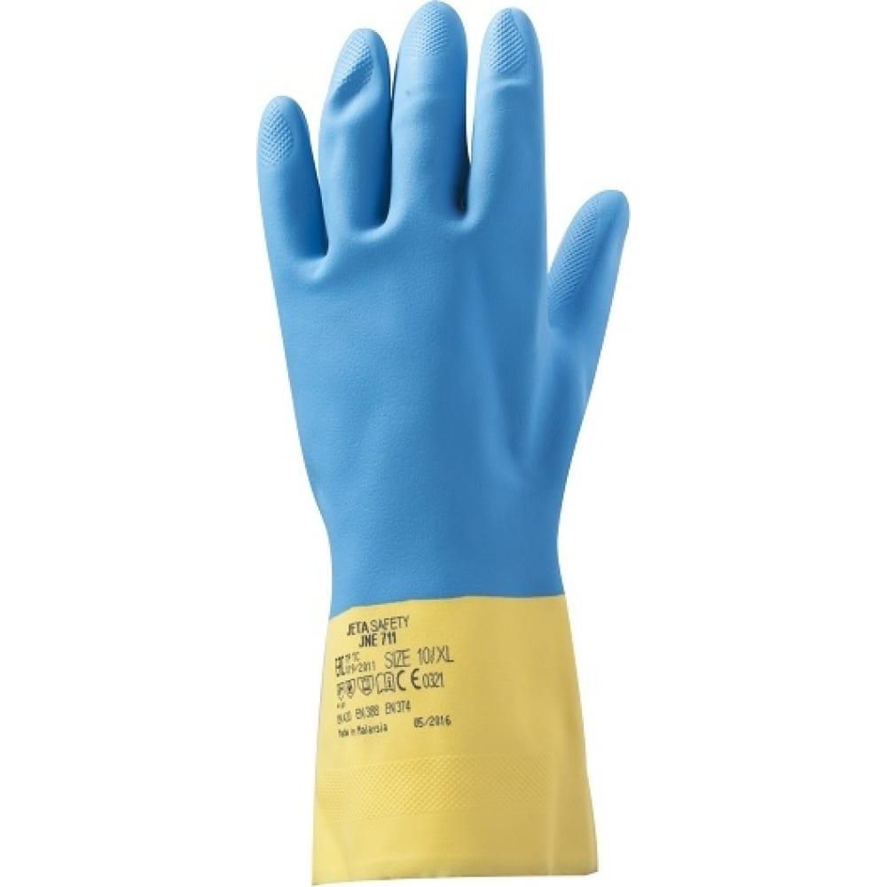 Неопреновые, химически стойкие перчатки jetasafety jne711 xxl