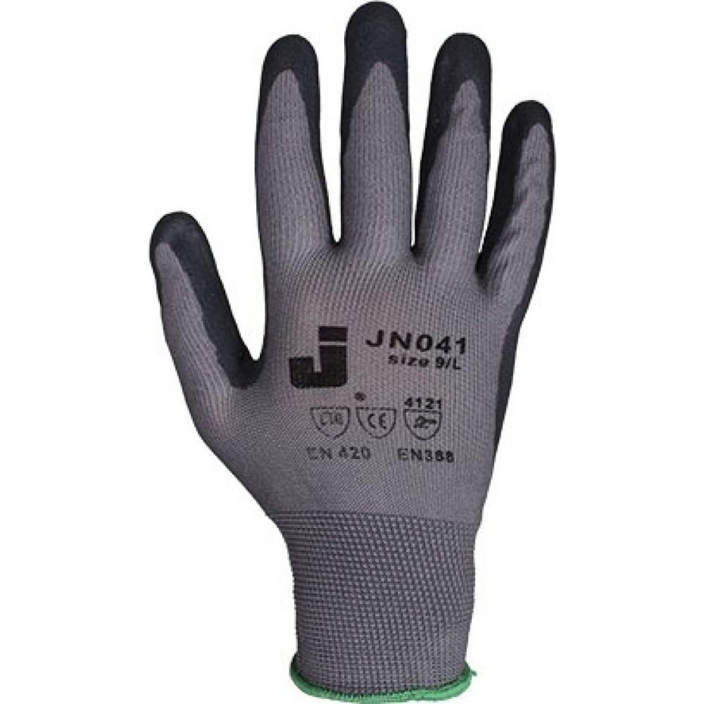 Перчатки с пенонитриловым покрытием (12 пар) jetasafety jn041/xlНейлоновые<br>Размер: 10/XL ;
