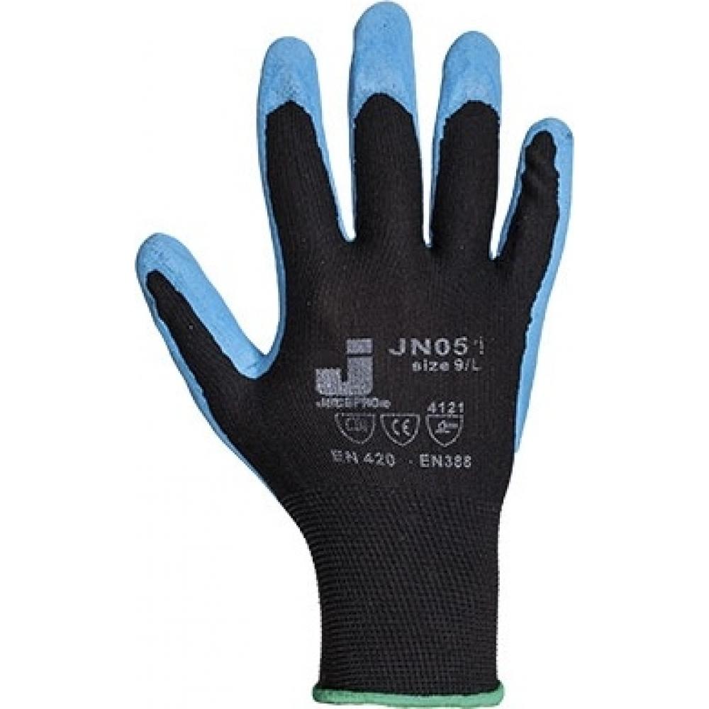 Перчатки с текстурным нитриловым покрытием (12 пар) jetasafety jn051/xlСо сплошным полимерным покрытием<br>Размер: 10/XL ;