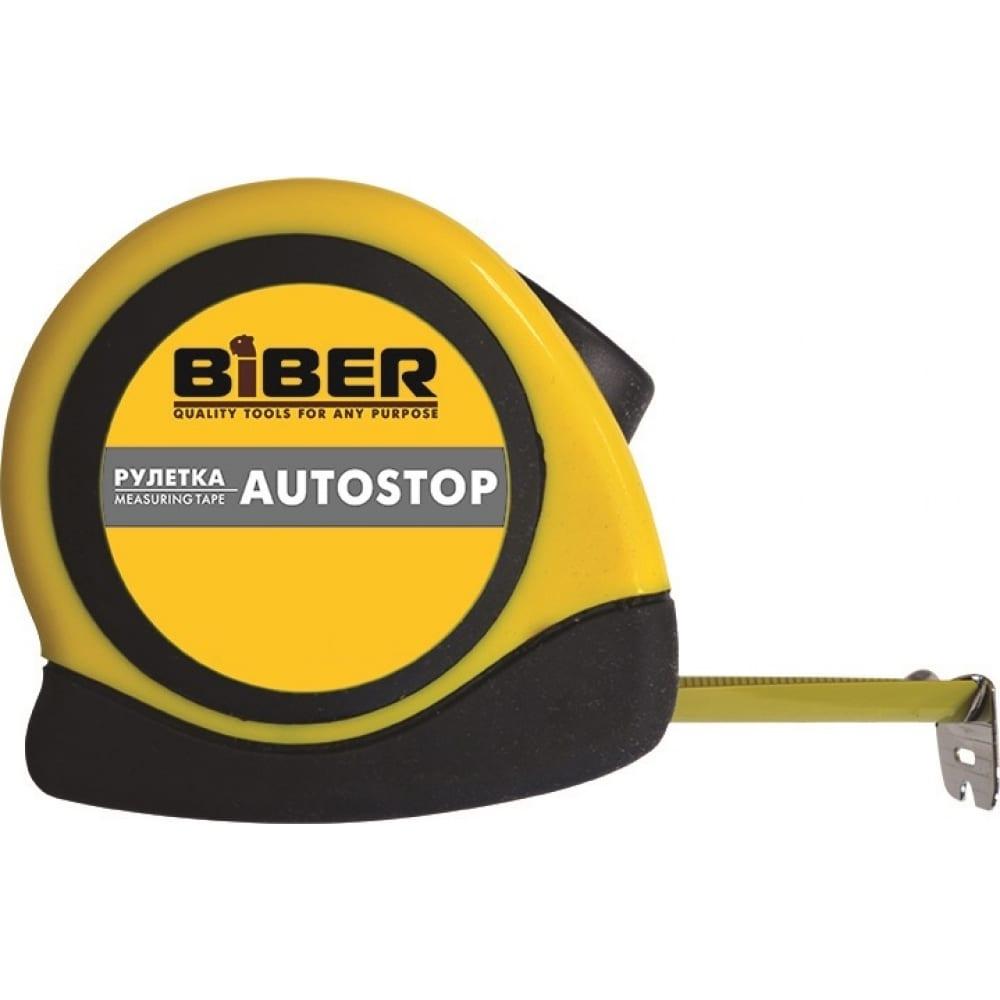 Купить Рулетка (обрезиненный корпус, 3 м х 16 мм) biber autostop 40071 тов-173001