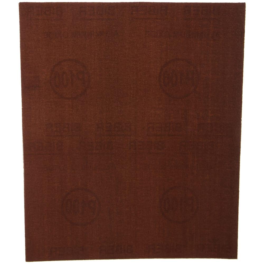 Шкурка шлифовальная на тканевой основе (10 пачек по 10 листов; 230х280 мм; р100) biber 70625 тов-080362