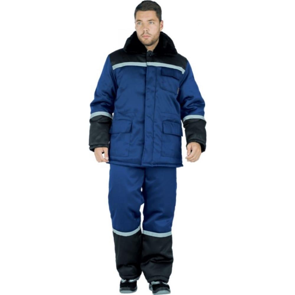 Утеплённый костюм гк спецобъединение метелица темно-синий/чёрный, р. 96-100, рост 170-176 кос 300/ 96/170Рабочие костюмы<br>Вес: 2 кг;<br>Цвет: темно-синий/черный ;<br>Max температура: -18 °C;<br>Ткань: смесовая ;<br>Состав ткани: 20% хлопок, 80% полиэфир ;<br>Плотность ткани: 210 г/кв.м;<br>Размер: 48-50 ;<br>Рост: 170-176 см;<br>Пропитка: водоотталкивающая ;<br>Капюшон: есть ;<br>Тип застежки: пуговицы ;<br>ГОСТ\ТУ: ГОСТ Р 12.4.236-2011 ;<br>Единиц в упаковке: 1 шт.;<br>Защитные свойства: от пониженных температур ;<br>Утеплитель: синтепон ;<br>Международный размер: M (48-50) ;<br>Светоотражающие элементы: есть ;<br>Сигнальный: есть ;