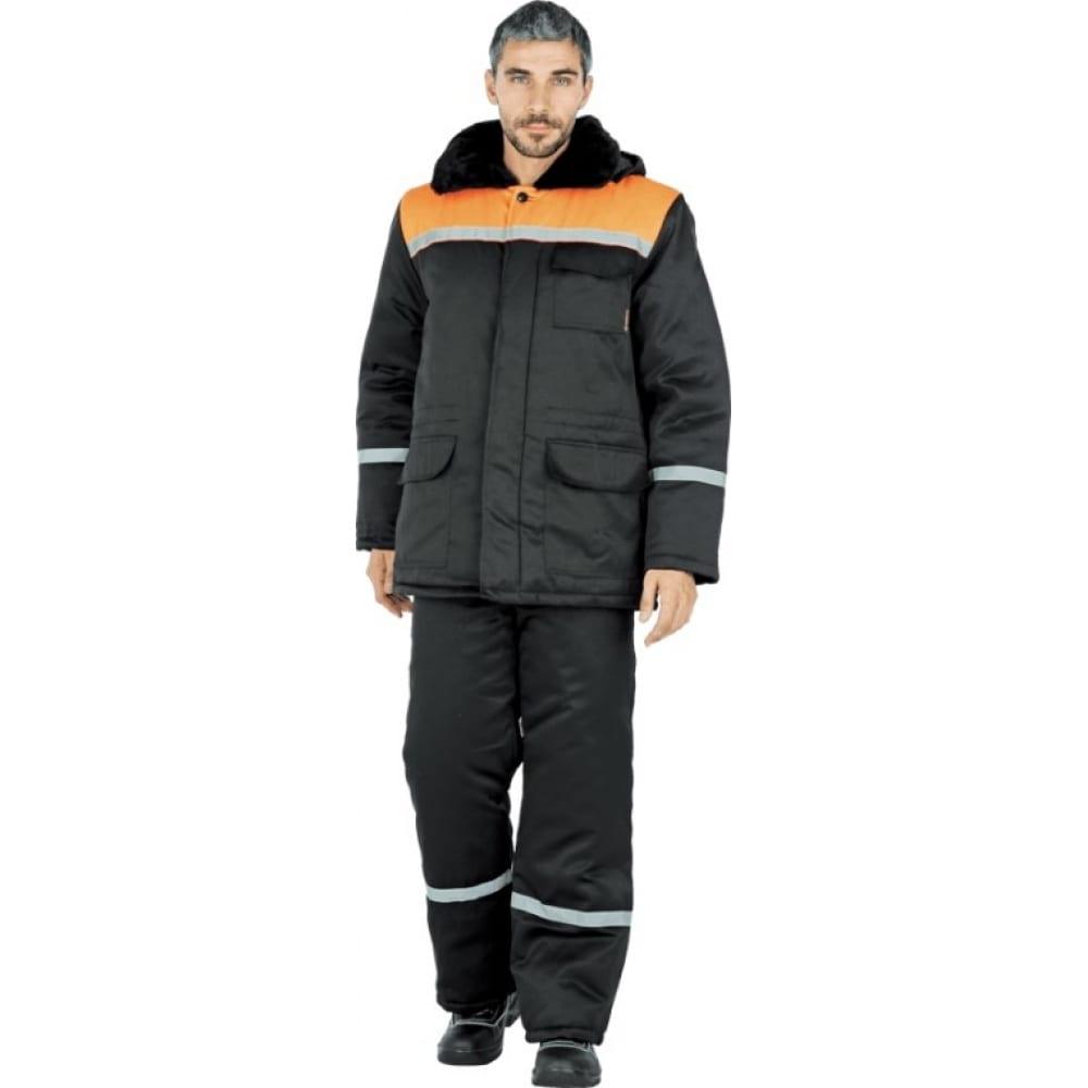 Утеплённый костюм гк спецобъединение метелица чёрный/оранжевый, р. 88-92, рост 182-188 кос 305/ 88/182Рабочие костюмы<br>Вес: 2 кг;<br>Тип: мужской брючный ;<br>Цвет: черный/оранжевый ;<br>Max температура: -18 °C;<br>Ткань: смесовая ;<br>Состав ткани: 20% хлопок, 80% полиэфир ;<br>Плотность ткани: 210 г/кв.м;<br>Размер: 44-46 ;<br>Рост: 182-188 см;<br>Пропитка: водоотталкивающая ;<br>Капюшон: есть ;<br>Тип застежки: пуговицы ;<br>ГОСТ\ТУ: ГОСТ Р 12.4.236-2011 ;<br>Единиц в упаковке: 1 шт.;<br>Защитные свойства: от пониженных температур ;<br>Утеплитель: синтепон ;<br>Международный размер: XS (44-46) ;<br>Светоотражающие элементы: есть ;<br>Сигнальный: есть ;