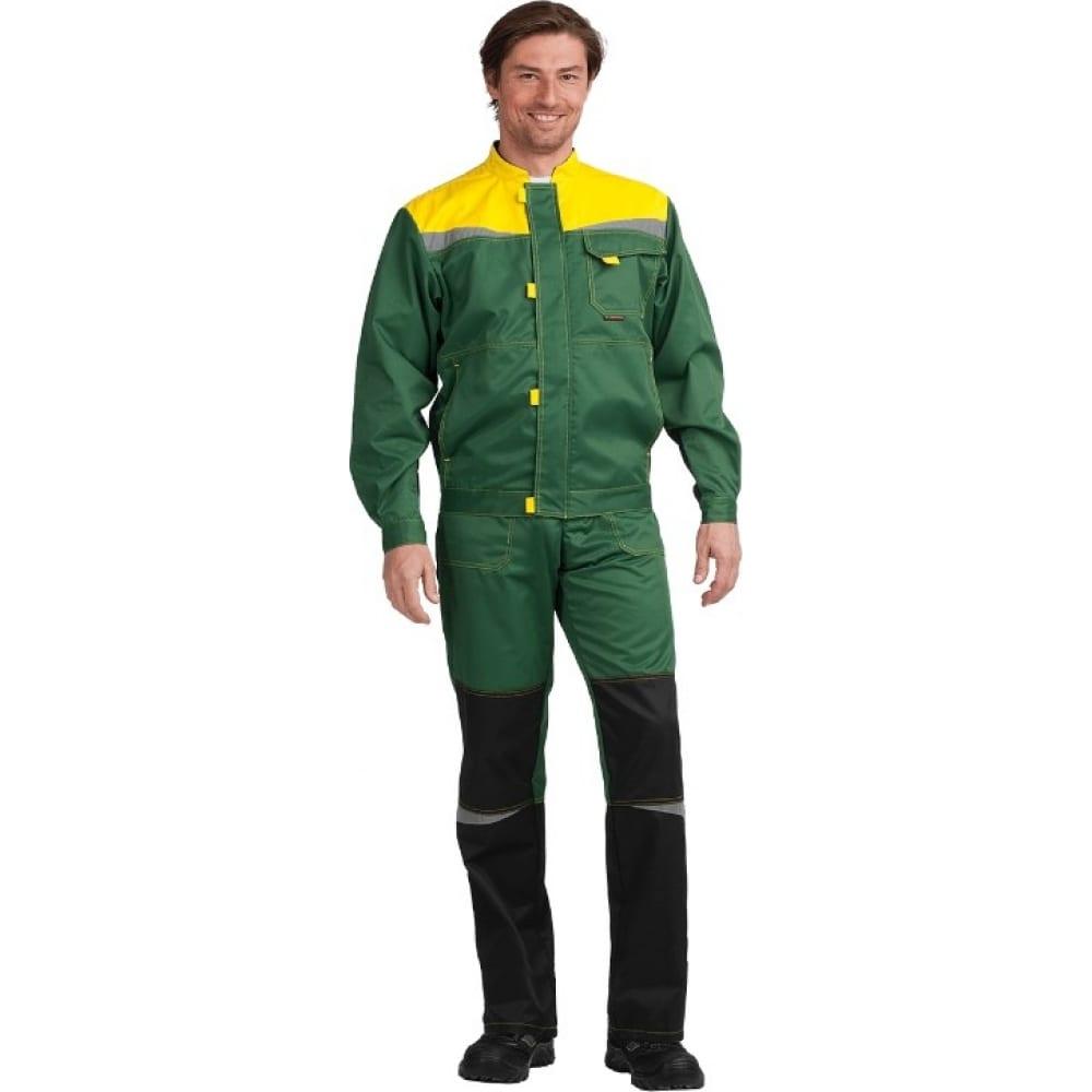 Костюм гк спецобъединение км-10 люкс зеленый-желтый, р. 96-100, рост 182-188 кос 051/ 96/182Рабочие костюмы<br>Тип: мужской с полукомбинезоном ;<br>Цвет: зеленый/желтый ;<br>Ткань: смесовая ;<br>Состав ткани: 53% хлопок, 47% полиэфир ;<br>Плотность ткани: 220 г/кв.м;<br>Размер: 48-50 (рост 182-188) ;<br>Рост: 182-188 см;<br>Пропитка: водоотталкивающая ;<br>Световозвращающая полоса: есть ;<br>Капюшон: нет ;<br>Тип застежки: молния ;<br>ГОСТ\ТУ: ГОСТ 12.4.280-2014 ;<br>Единиц в упаковке: 1 шт.;<br>Вес модели: 1.4 кг;<br>Защитные свойства: от общих загрязнений, от истирания ;<br>Международный размер: M (48-50) ;<br>Сигнальный: есть ;