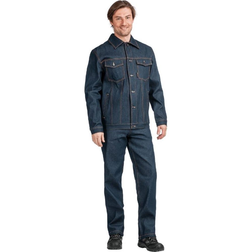 Костюм гк спецобъединение ковбой джинсовый, р. 88-92, рост 170-176 кос 525/ 88/170Рабочие костюмы<br>Тип: мужской брючный ;<br>Ткань: джинсовая ;<br>Состав ткани: 100% хлопок ;<br>Плотность ткани: 360 г/кв.м;<br>Размер: 44-46 (рост 170-176) ;<br>Рост: 170-176 см;<br>Световозвращающая полоса: нет ;<br>Капюшон: нет ;<br>Тип застежки: пуговицы ;<br>ГОСТ\ТУ: ГОСТ 12.4.280-2014 ;<br>Единиц в упаковке: 1 шт.;<br>Цвет: синий ;<br>Международный размер: XS (44-46) ;<br>Сигнальный: нет ;<br>Вес модели: 1.7 кг;<br>Защитные свойства: от общих загрязнений, от истирания ;