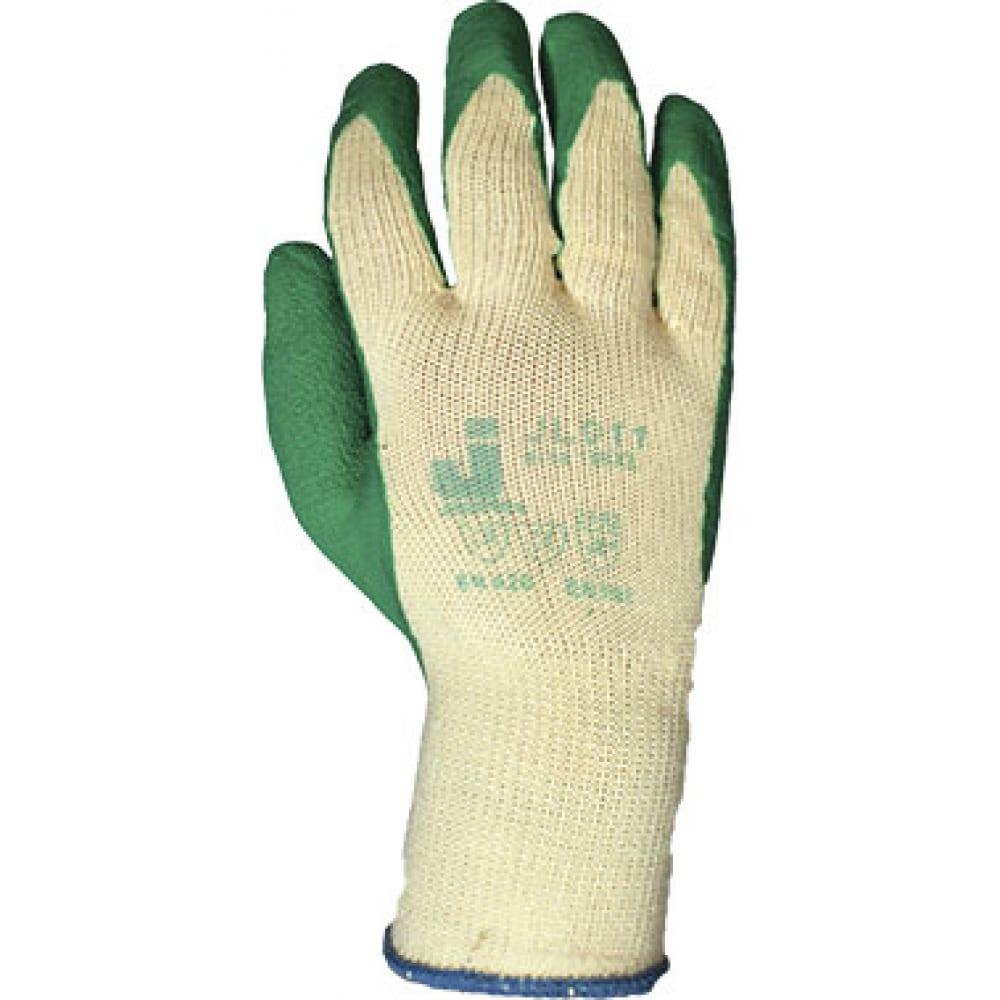 Трикотажные перчатки с рельефным латексным покрытием jetasafety jl011/l