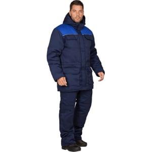 Утеплённый костюм гк спецобъединение партнер темно-синий/василёк, р. 88-92, рост 182-188 кос 678/ 88/182