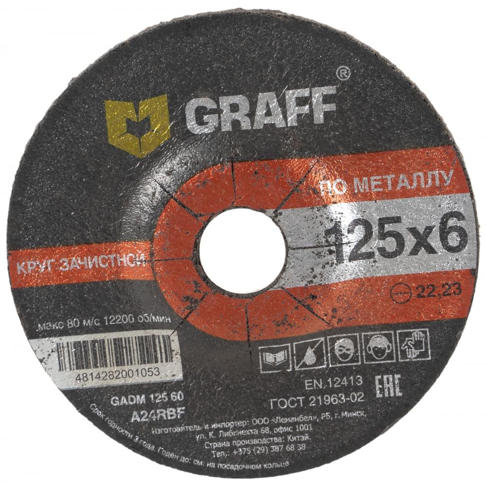 Купить Круг зачистной по металлу (125x22.23х6 мм) graff gadm 125 06