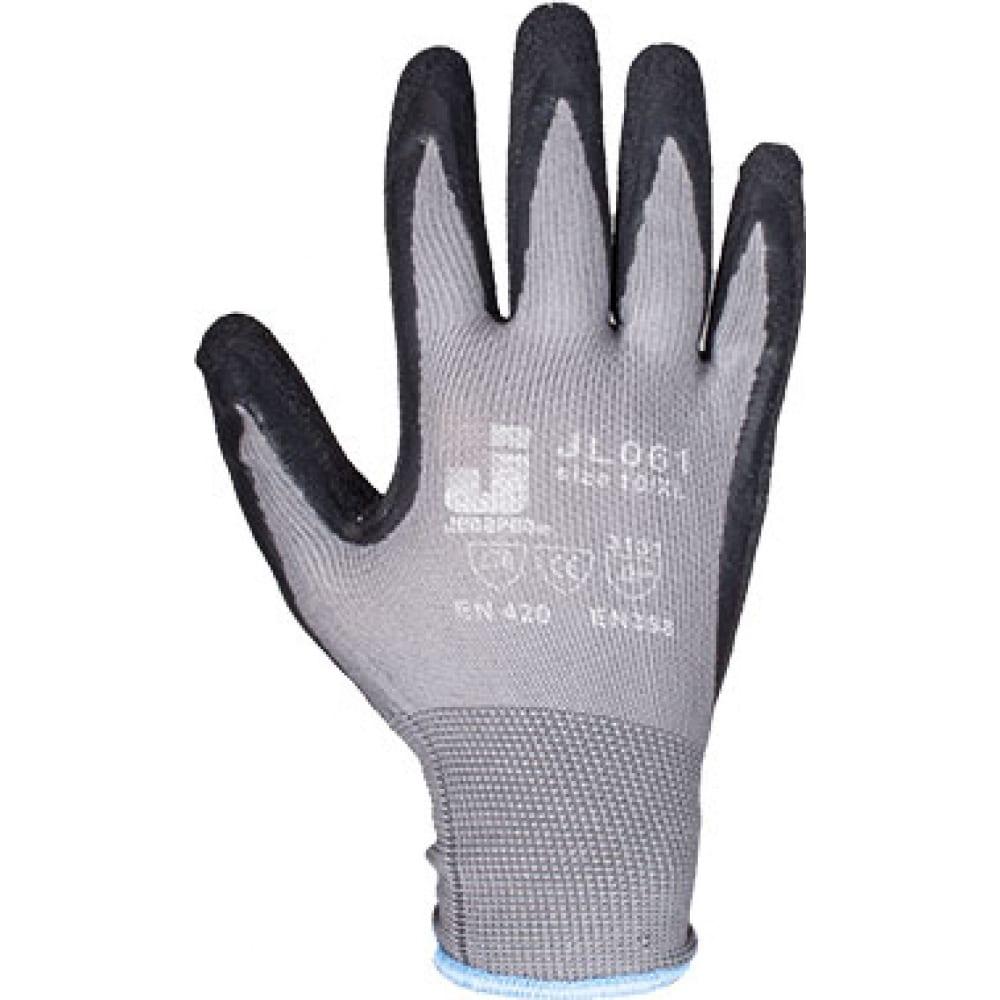 Защитные перчатки с рельефным латексным покрытием jetasafety (12 пар) jl061/m