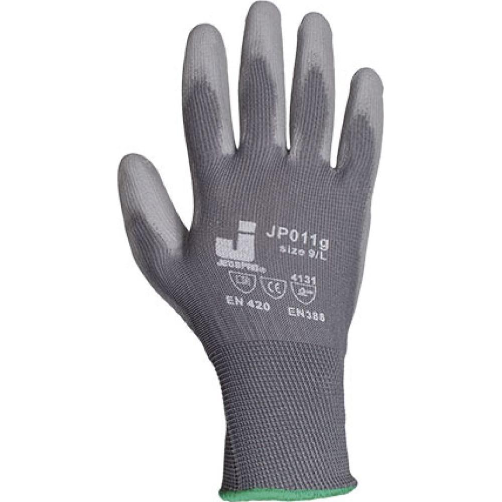 Защитные перчатки с полиуретановым покрытием jetasafety (12 пар) jp011g/l