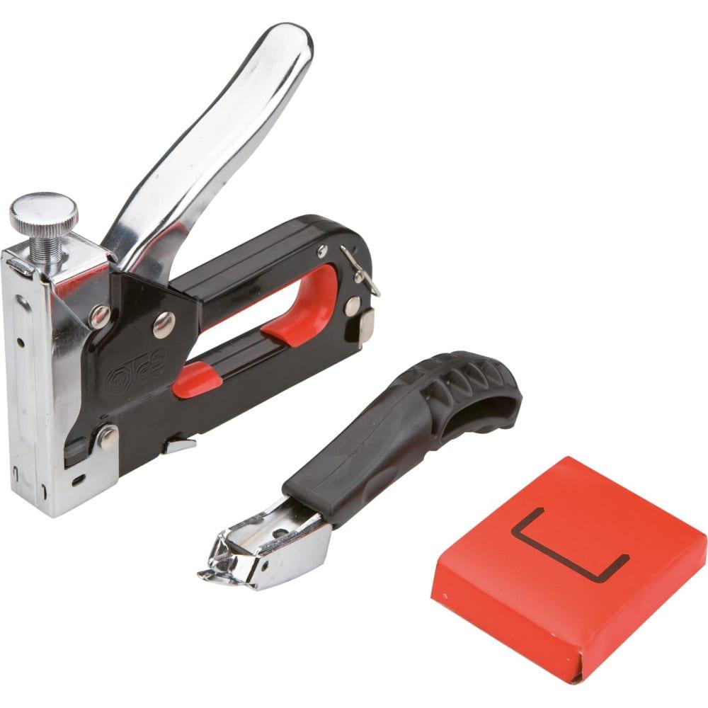 Степлер (6-8 мм, скобы j) и скободер top tools 41e915  - купить со скидкой