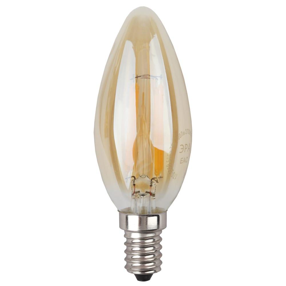 Светодиодная лампа эра f-led b35-7w-827-e14 gold б0027964