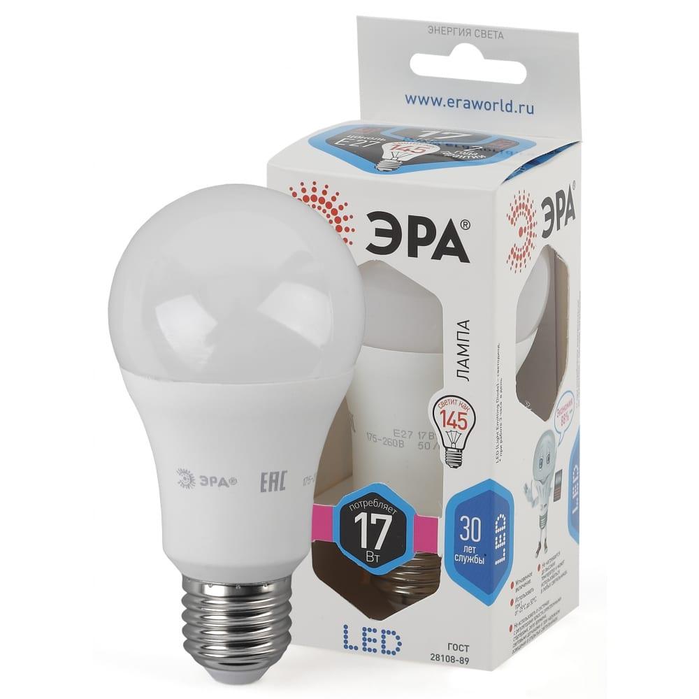 Светодиодная лампа эра led a60-17w-840-e27 б0031700