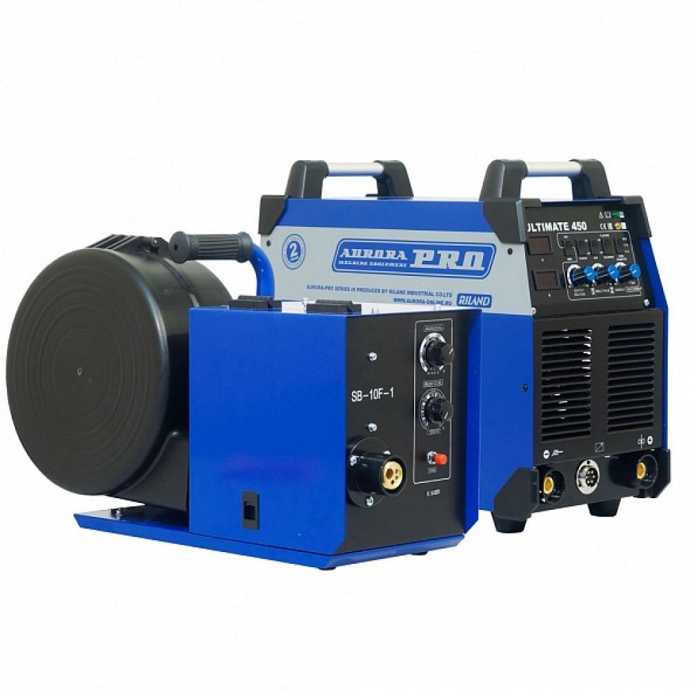 Сварочный аппарат с горелкой + закрытый подающий sb-10f + пакет проводов aurora ultimate 450 19108