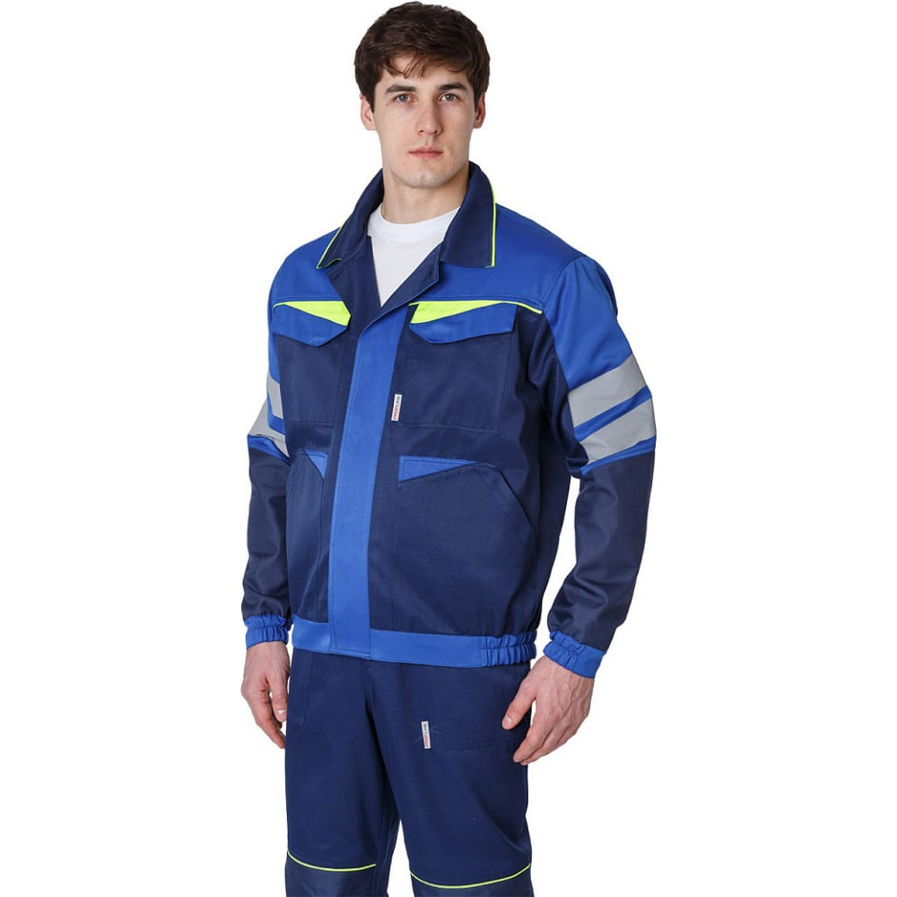 Мужская укороченная куртка факел profline base темно-синий/васильковый р. 52-54, рост 182-188 87468773.006Куртки<br>Тип: мужская ;<br>Цвет: темно-синий/васильковый  ;<br>Ткань: смесовая ;<br>Плотность ткани: 210 г/кв.м;<br>Размер: 52-54 (рост 182-188) ;<br>Рост: 182-188 см;<br>Пропитка: водоотталкивающая ;<br>Световозвращающая полоса: есть ;<br>Капюшон: нет ;<br>Тип застежки: пуговицы ;<br>ГОСТ\ТУ: ГОСТ 12.4.280-2014 ;<br>Единиц в упаковке: 1 шт.;<br>Защитные свойства: от общих загрязнений, от истирания ;<br>Международный размер: XL (52-54) ;