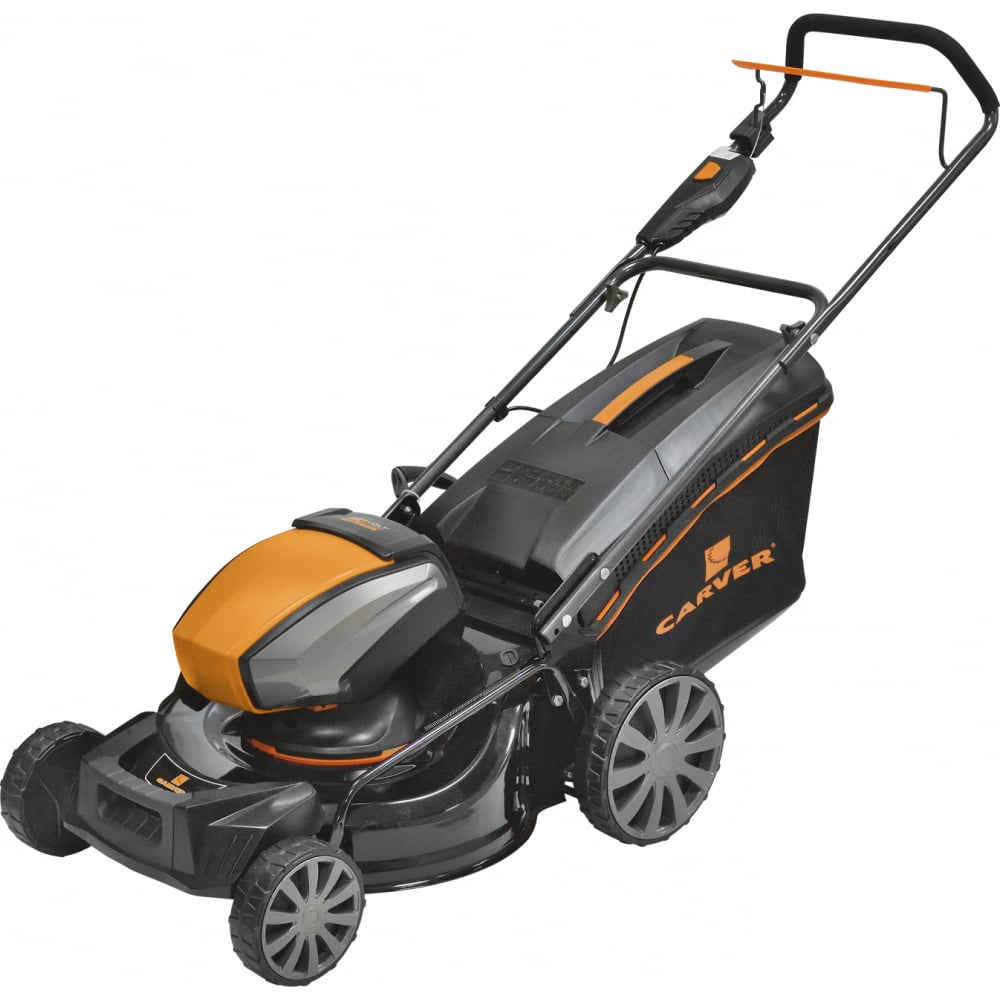Аккумуляторная газонокосилка carver lmb-1848 01.024.00015