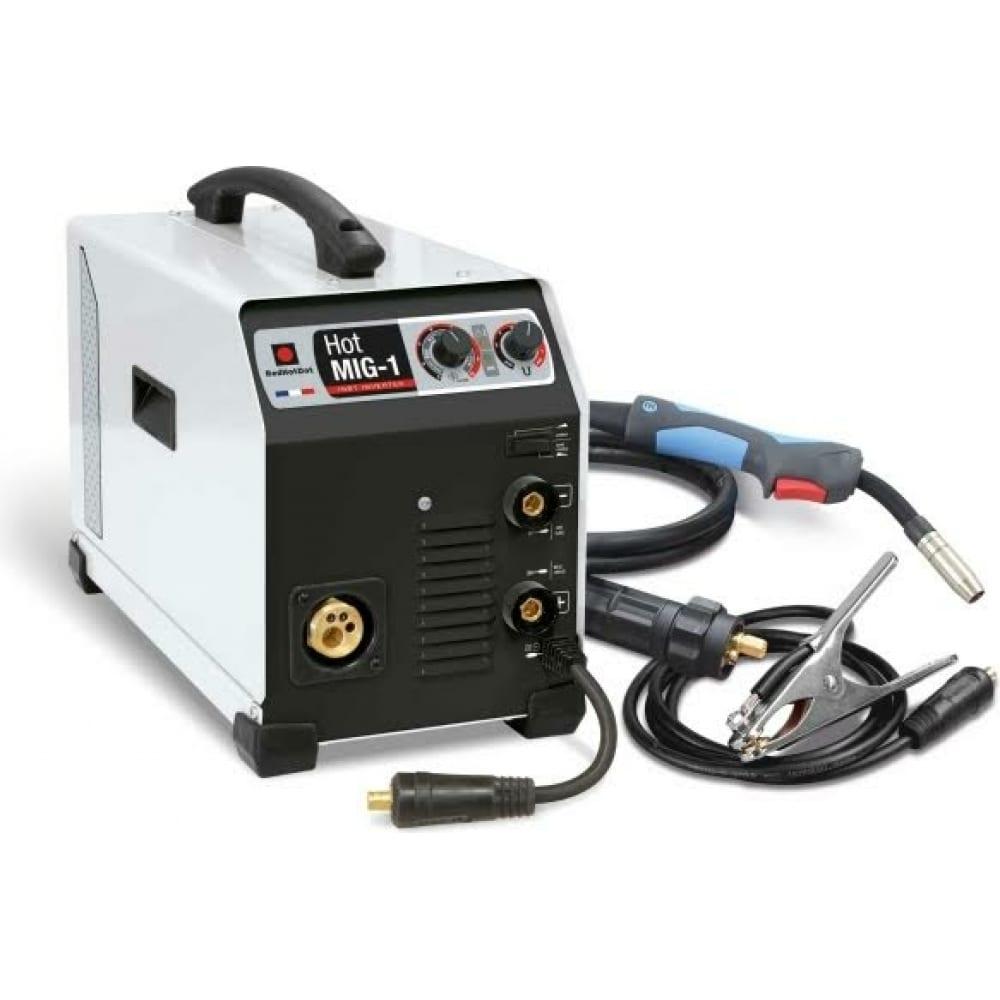 Инверторный аппарат полуавтоматической mig mag и дуговой сварки мма redhotdot hot mig-1 900622.