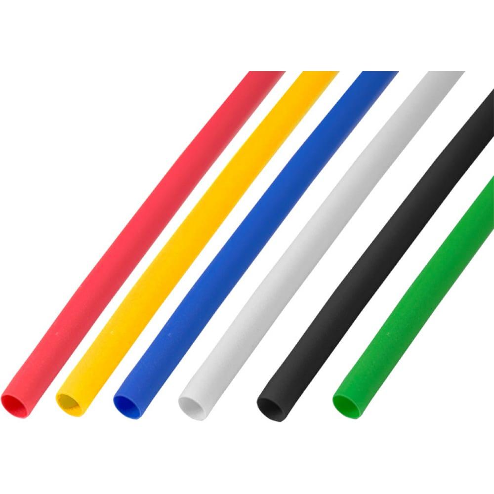 Купить Набор термоусадочной трубки rexant 5.0/2.5 мм, 1м, 5 цветов, 50 шт. 29-0155