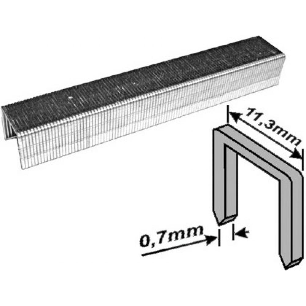 Купить Скобы для степлера закаленные усиленные узкие (тип 53; 14 мм; 1000 шт.) fit 31334
