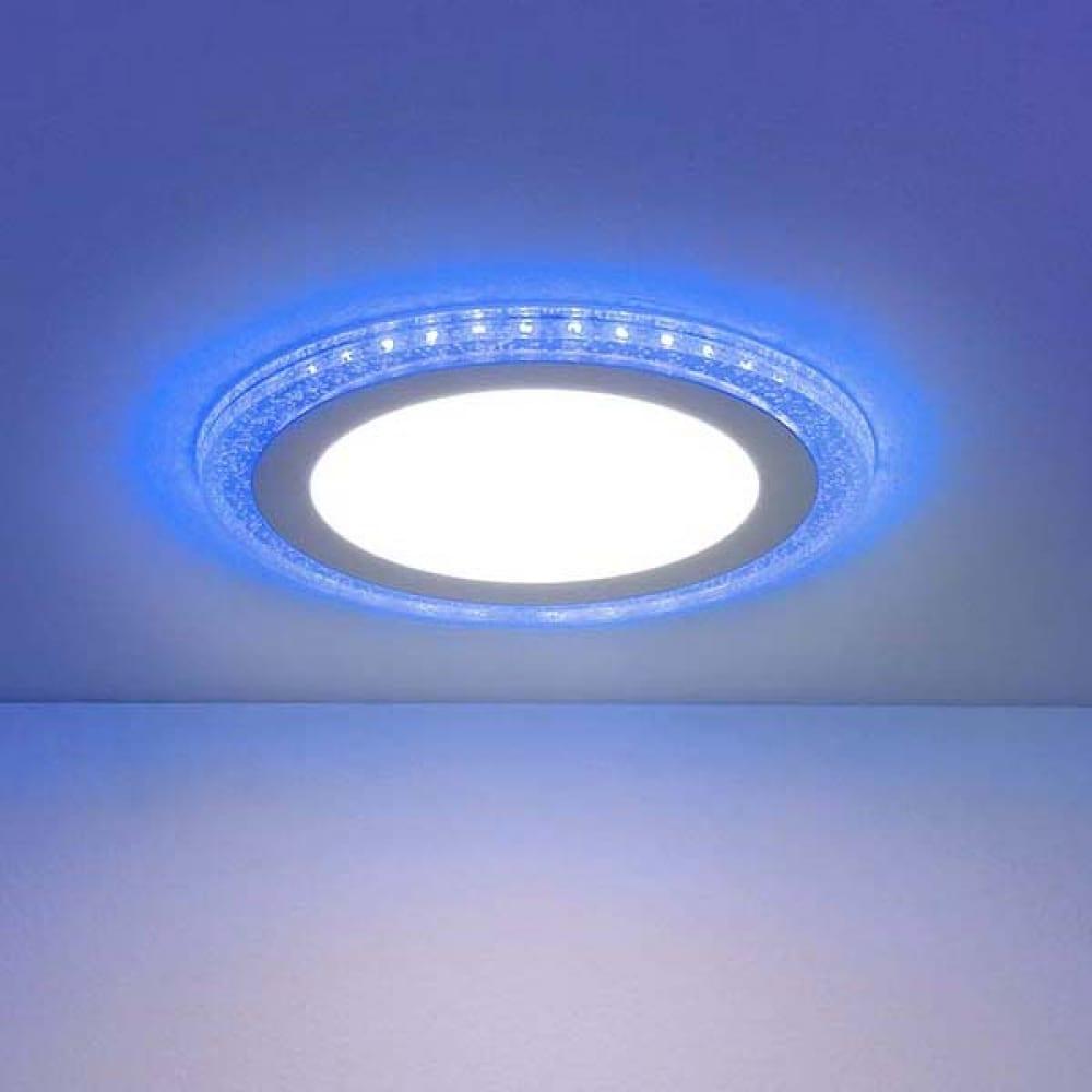 Встраиваемый светильник elektrostandard dlr024 10w 4200k подсветка blue a038377