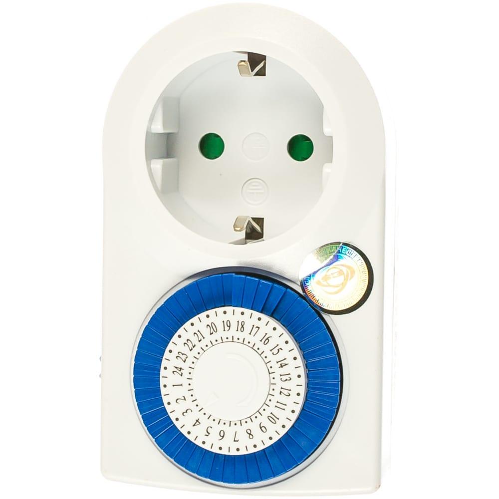 Электронная розетка-таймер elektrostandard tmh-m-3 16a x1 ip20 белый a026136