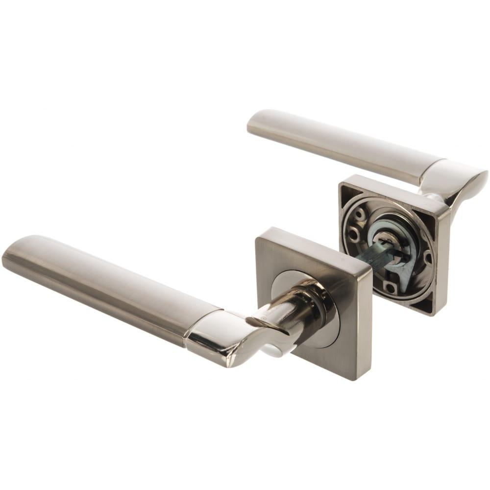 Купить Дверная ручка (никель матовый/никель блестящий) puerto al 522-02 sn/np