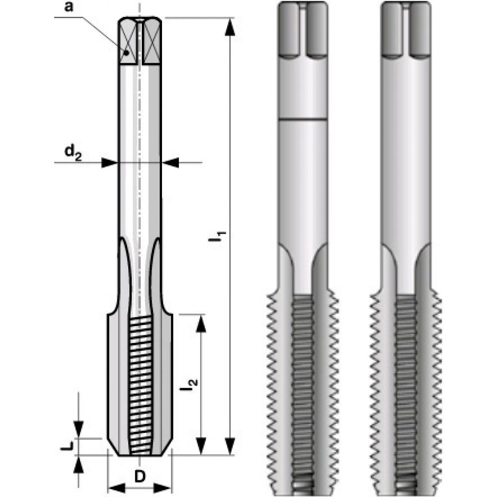 Купить Набор метчиков из 2-х шт. m22 шаг 2.50 мм bucovice tools 110220