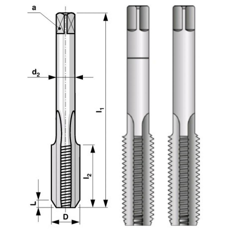 Купить Набор метчиков из 2-х шт. mf16 шаг 1.5мм, мелкая резьба bucovice tools 110161