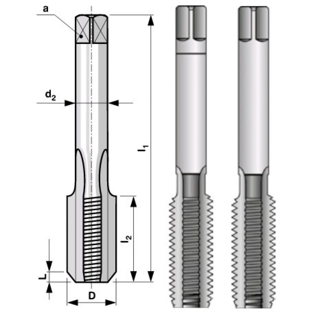 Купить Набор метчиков hss из 2-х шт. m16 шаг 2.00 мм bucovice tools 144160