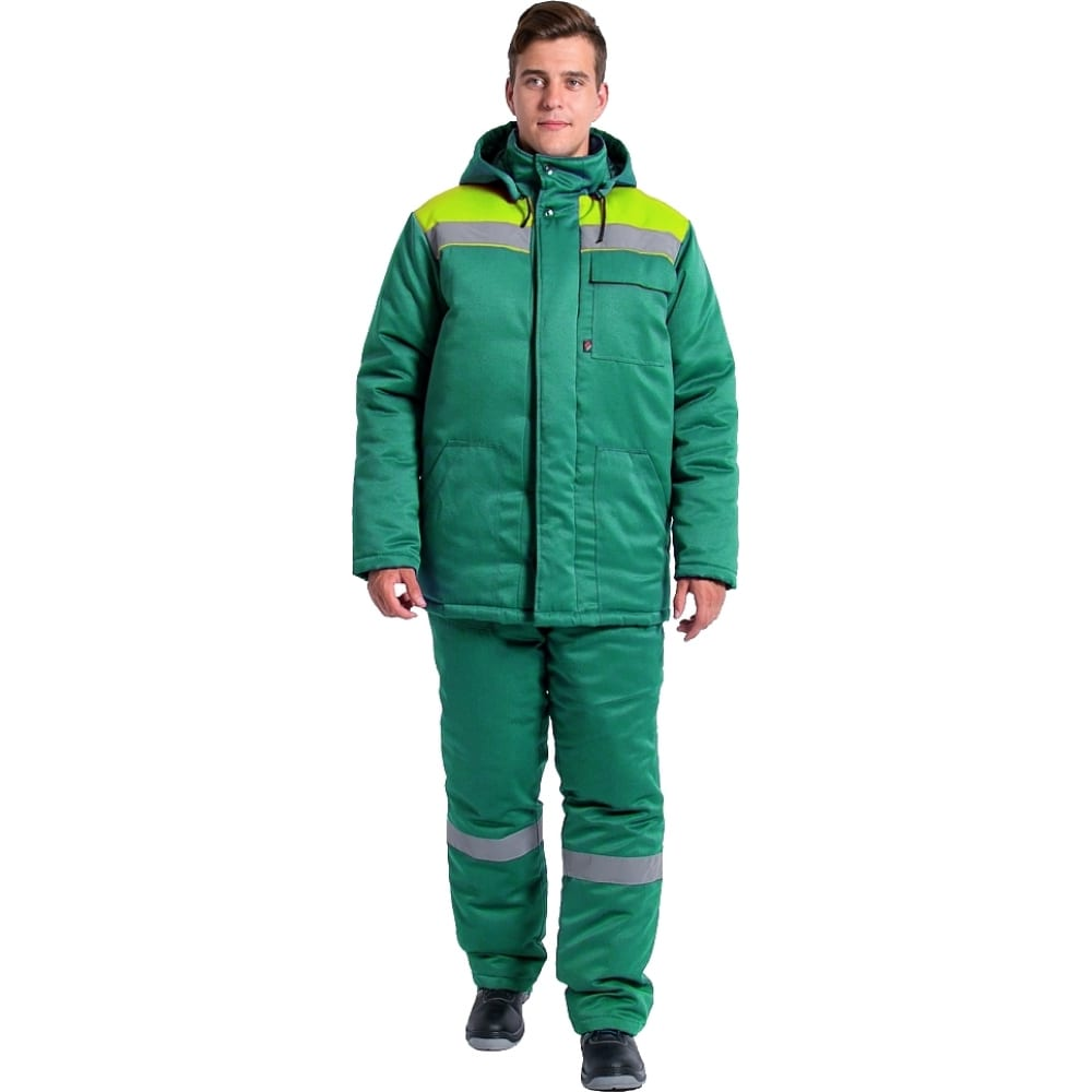 Зимний костюм факел партнер new зеленый/лимон, р.52-54, рост 170-176 87469199.005
