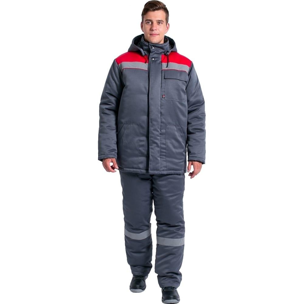 Зимний костюм факел партнер new темно-серый/красный, р.52-54, рост 182-188 87469198.006