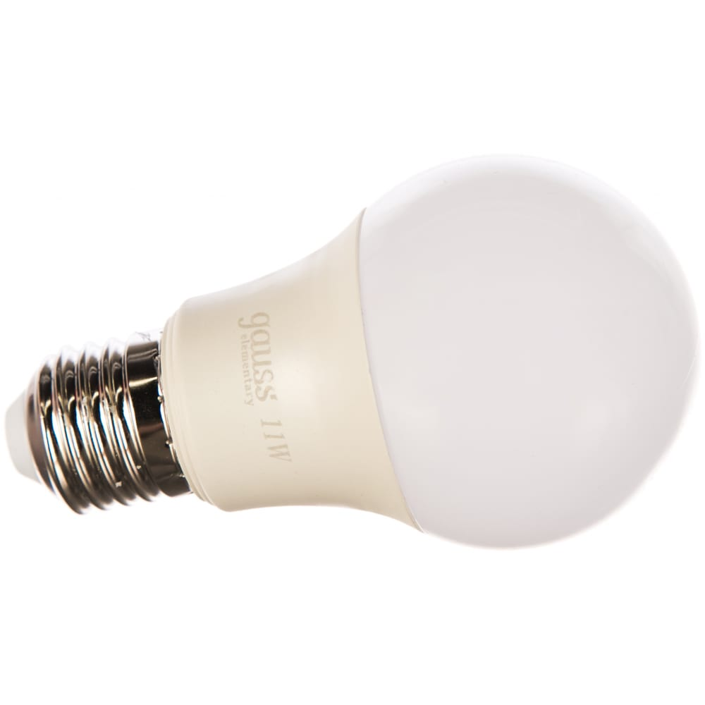 Лампа gauss led elementary a60 11w e27 2700k 1/50 2 лампы в упаковке sq23211p