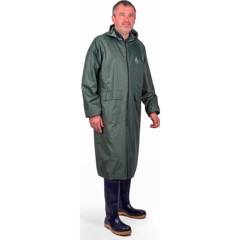 Влагозащитный плащ-дождевик берта зеленый, рост 170-176 800-48-50  - купить со скидкой