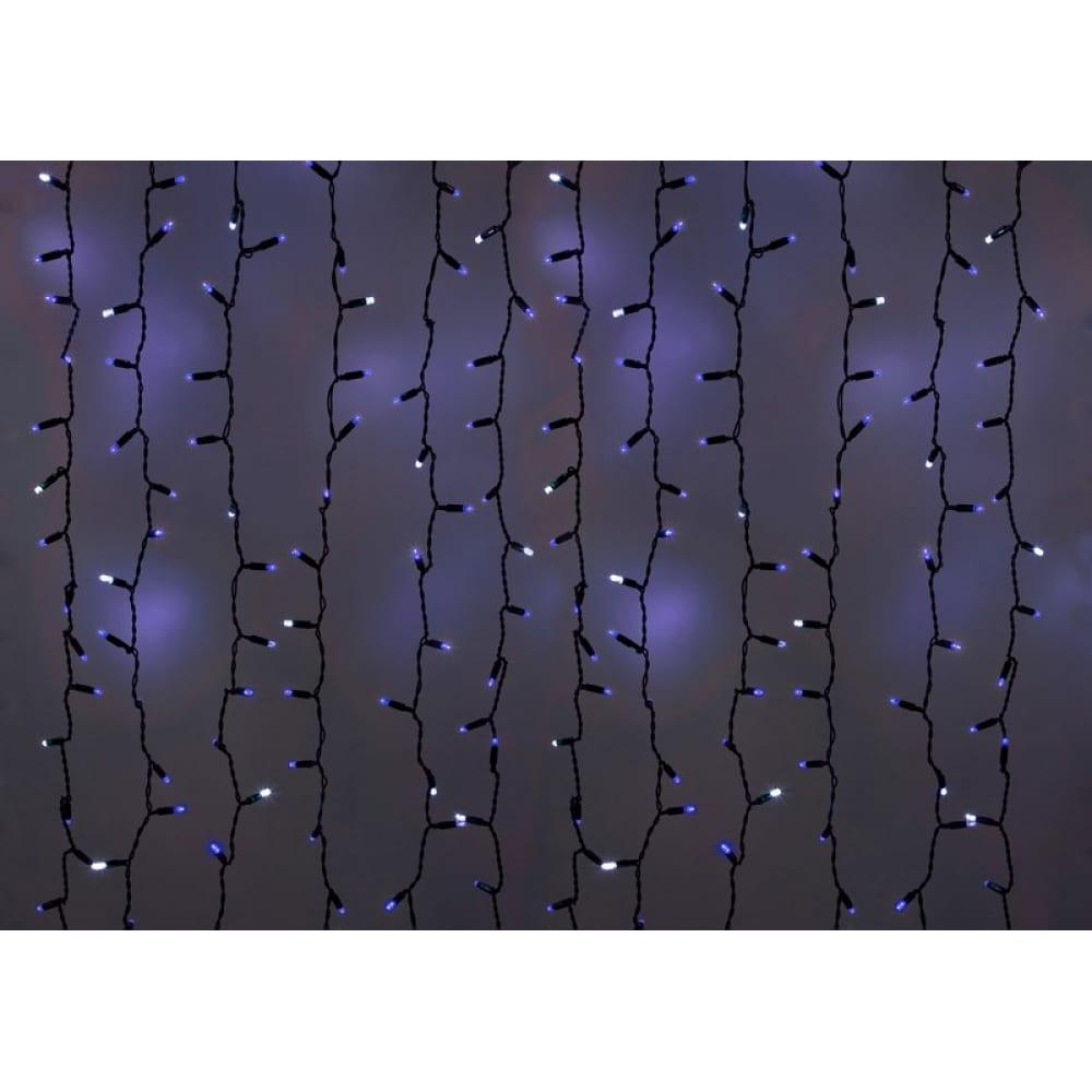 Купить Гирлянда neon-night дождь, занавес, 2х3м, черный пвх, мерцающий flashing , 760 led синие 235-203