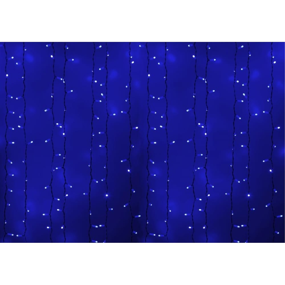 Купить Гирлянда neon-night дождь, занавес, 2х3м, белый пвх, 760 led синие 235-133
