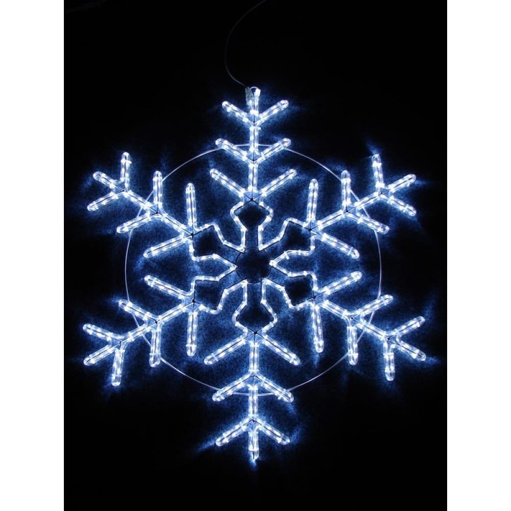 Световая фигура neon night снежинка мерцающая, 95х95