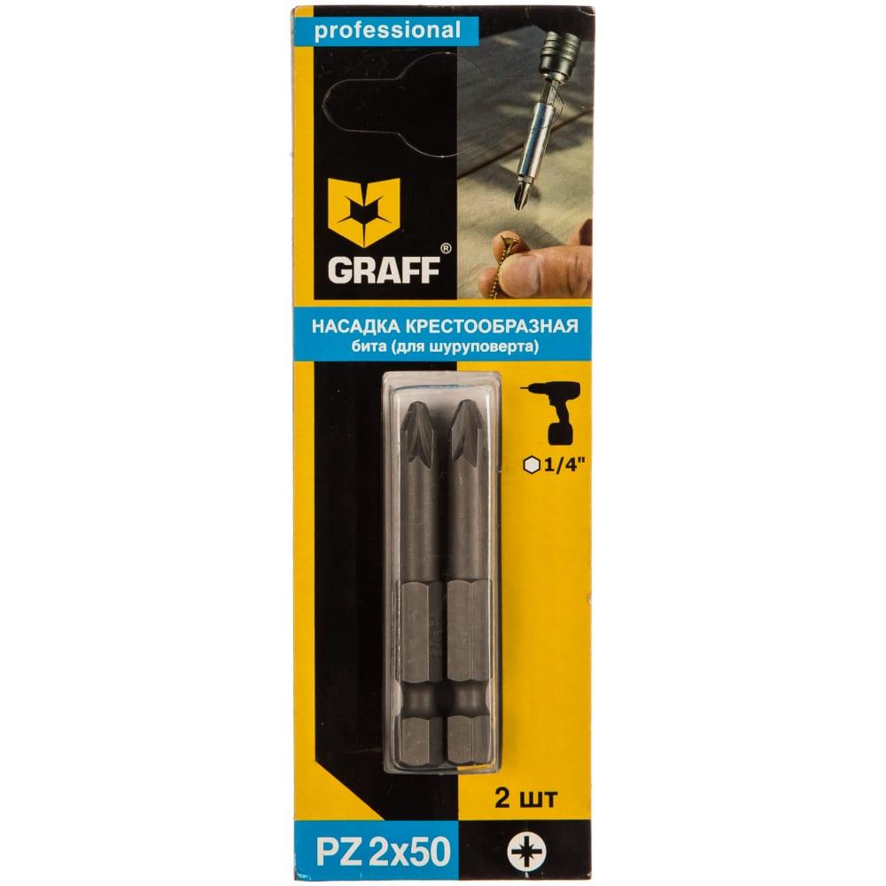 Купить Бита (2 шт; pz2; 50 мм; блистер) graff gbpz0250