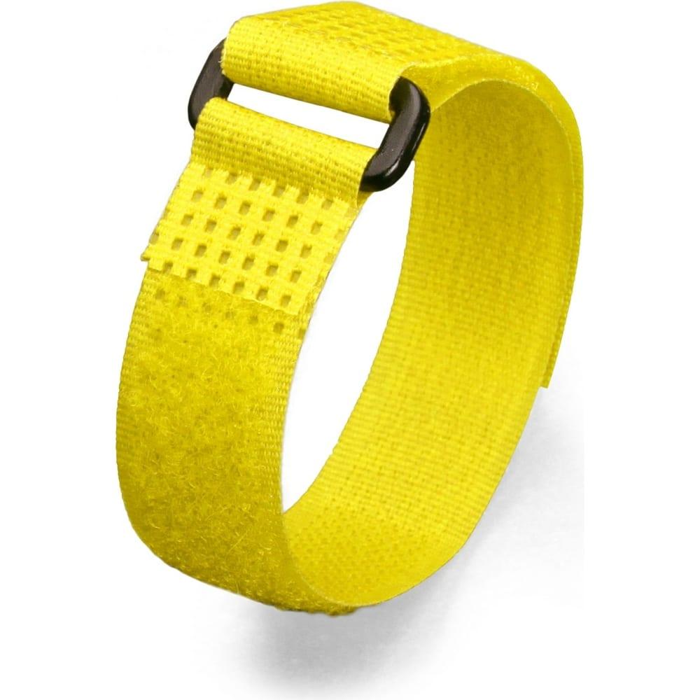 Велькро стяжки fortisflex ксв-п 25х300 желтый 75049  - купить со скидкой