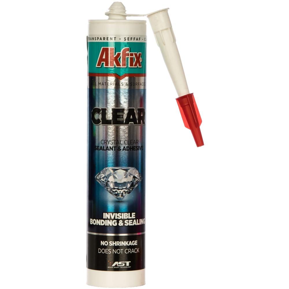 Купить Клей-герметик на основе ms полимера akfix allbond clear 35 шор, прозрачный, 290 мл ams00