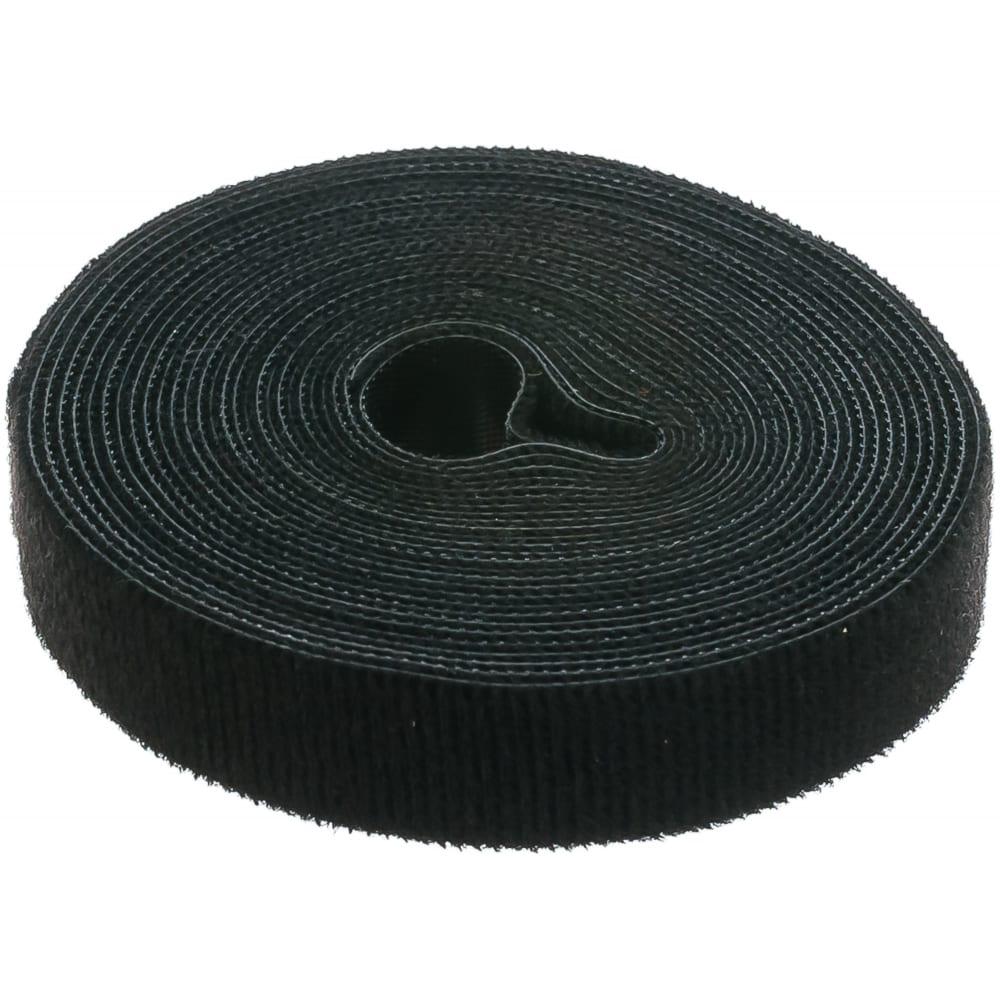 Универсальная лента велькро (5мх205мм, черная) fortisflex лву 78437