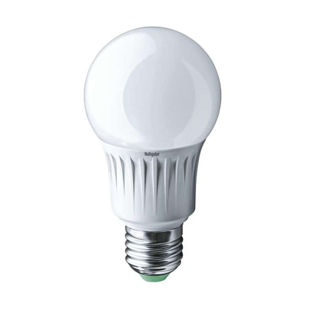Светодиодная лампа navigator 94 388 nll-a60-10-230-4k-e27 10вт e27 820лм 170-260в 18500 257361