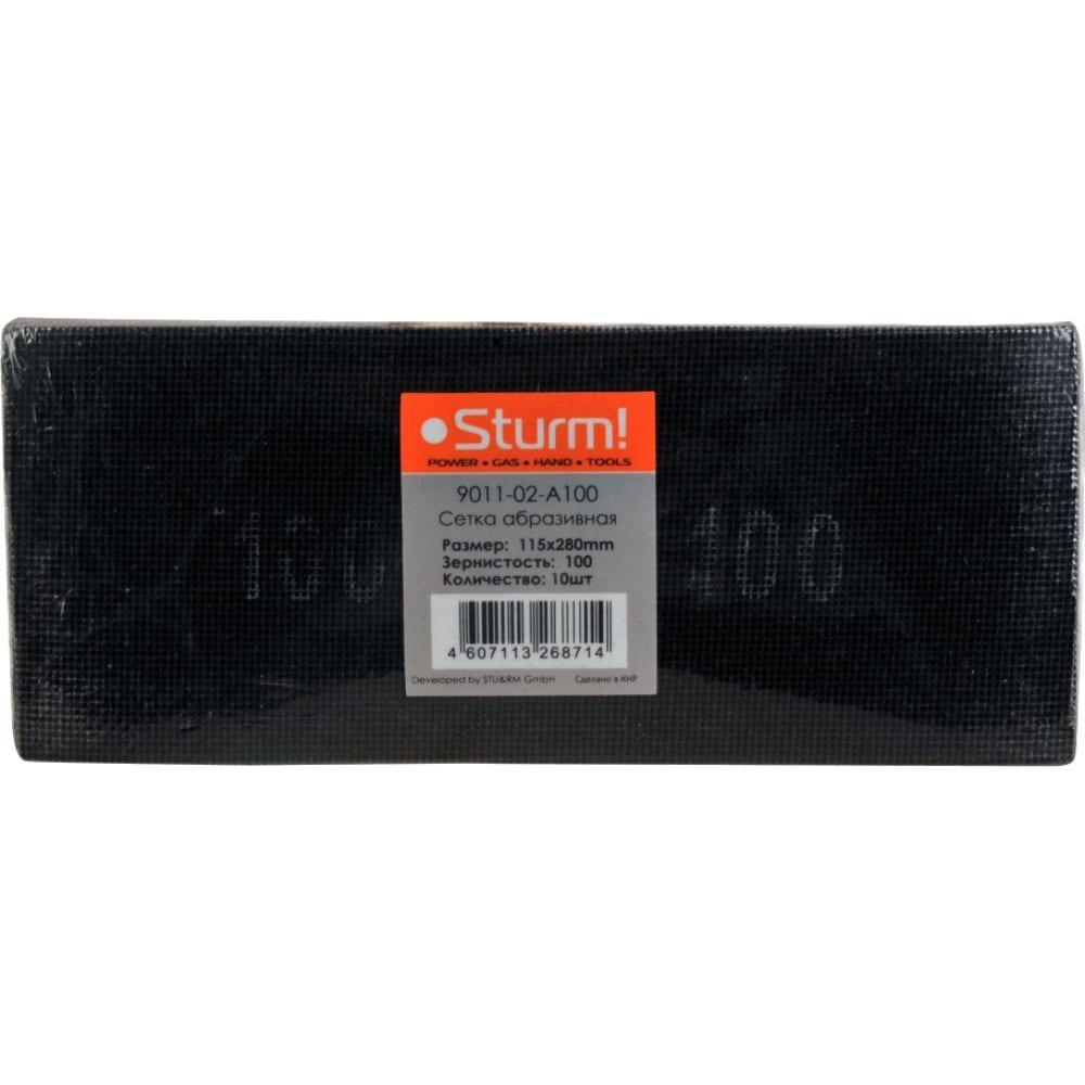 Купить Cетка абразивная (10 шт; 115х280 мм; p100) sturm 9011-02-a100