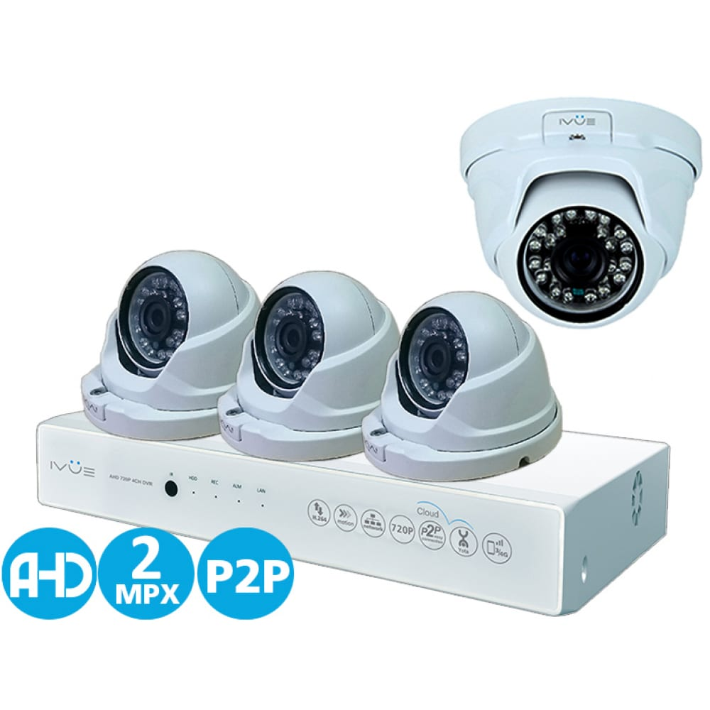Комплект видеонаблюдения для дома и офиса ivue