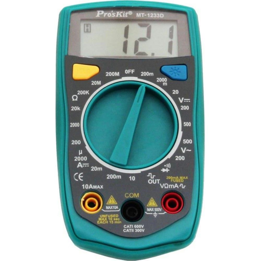 Мультиметр proskit mt-1233d 00284272