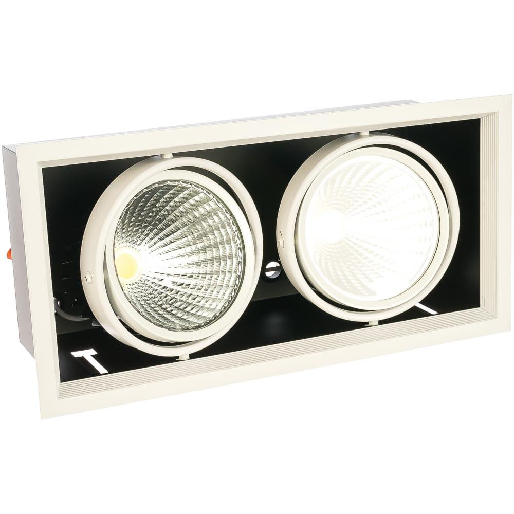 Купить Карданный светодиодный светильник feron 2x30w 5400 lm, 4000к, 35 градусов, белый, al212 29780