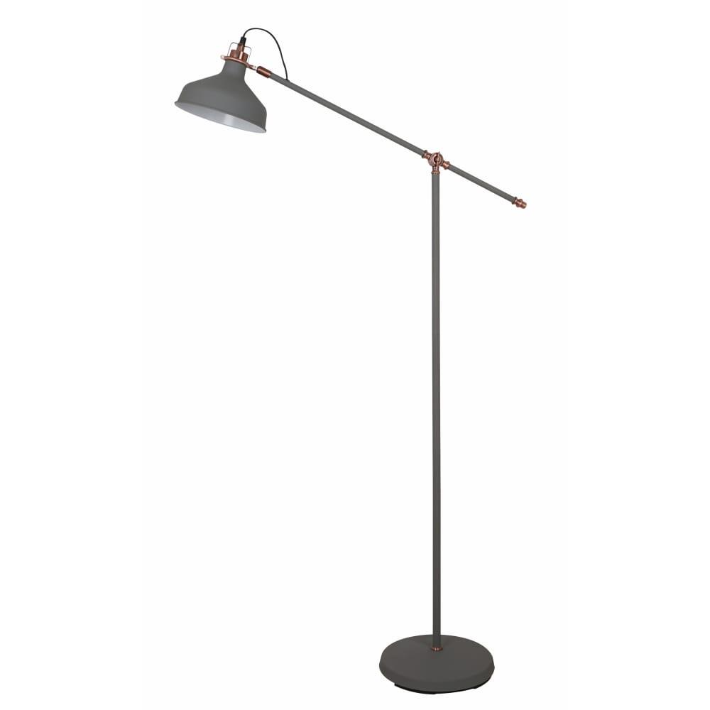Напольный светильник camelion kd-425f с73 серый + медь amsterdam 40вт металл 13018  - купить со скидкой